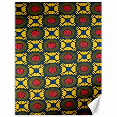 African Textiles Patterns Canvas 18  X 24   by Mariart