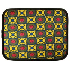 African Textiles Patterns Netbook Case (xxl)  by Mariart