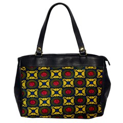 African Textiles Patterns Office Handbags by Mariart