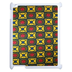 African Textiles Patterns Apple Ipad 2 Case (white) by Mariart