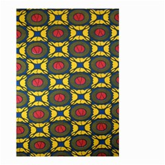 African Textiles Patterns Small Garden Flag (two Sides) by Mariart