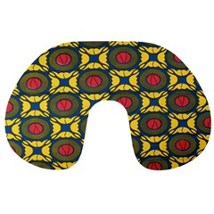African Textiles Patterns Travel Neck Pillows by Mariart
