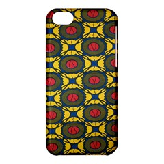 African Textiles Patterns Apple Iphone 5c Hardshell Case by Mariart