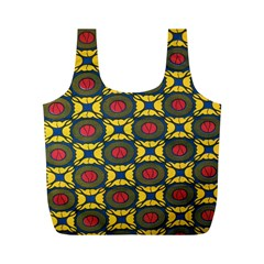 African Textiles Patterns Full Print Recycle Bags (m)  by Mariart