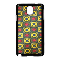 African Textiles Patterns Samsung Galaxy Note 3 Neo Hardshell Case (black) by Mariart