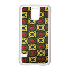 African Textiles Patterns Samsung Galaxy S5 Case (white) by Mariart