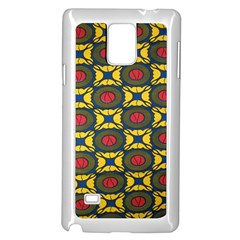 African Textiles Patterns Samsung Galaxy Note 4 Case (white) by Mariart