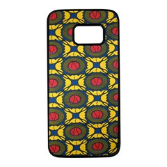 African Textiles Patterns Samsung Galaxy S7 Black Seamless Case by Mariart