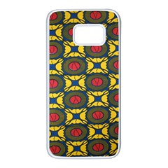 African Textiles Patterns Samsung Galaxy S7 White Seamless Case by Mariart