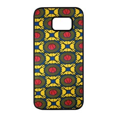 African Textiles Patterns Samsung Galaxy S7 Edge Black Seamless Case by Mariart