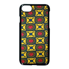 African Textiles Patterns Apple Iphone 7 Seamless Case (black) by Mariart