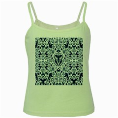 Birds Fish Flowers Floral Star Blue White Sexy Animals Beauty Green Spaghetti Tank by Mariart