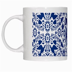 Birds Fish Flowers Floral Star Blue White Sexy Animals Beauty White Mugs by Mariart
