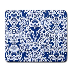 Birds Fish Flowers Floral Star Blue White Sexy Animals Beauty Large Mousepads by Mariart