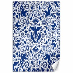 Birds Fish Flowers Floral Star Blue White Sexy Animals Beauty Canvas 24  X 36  by Mariart