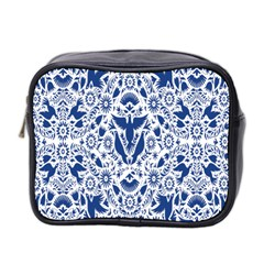 Birds Fish Flowers Floral Star Blue White Sexy Animals Beauty Mini Toiletries Bag 2 Side by Mariart