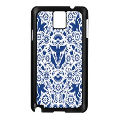 Birds Fish Flowers Floral Star Blue White Sexy Animals Beauty Samsung Galaxy Note 3 N9005 Case (black) by Mariart