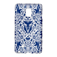 Birds Fish Flowers Floral Star Blue White Sexy Animals Beauty Galaxy Note Edge by Mariart