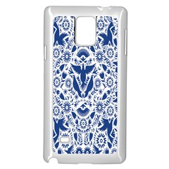 Birds Fish Flowers Floral Star Blue White Sexy Animals Beauty Samsung Galaxy Note 4 Case (white) by Mariart