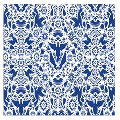 Birds Fish Flowers Floral Star Blue White Sexy Animals Beauty Large Satin Scarf (square) by Mariart