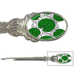 Bottna Fabric Leaf Green Letter Openers by Mariart