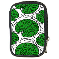 Bottna Fabric Leaf Green Compact Camera Cases by Mariart