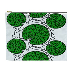 Bottna Fabric Leaf Green Cosmetic Bag (xl) by Mariart