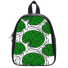 Bottna Fabric Leaf Green School Bag (small) by Mariart