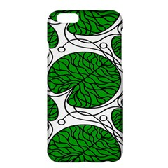 Bottna Fabric Leaf Green Apple Iphone 6 Plus/6s Plus Hardshell Case by Mariart