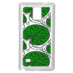 Bottna Fabric Leaf Green Samsung Galaxy Note 4 Case (white) by Mariart
