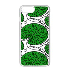 Bottna Fabric Leaf Green Apple Iphone 7 Plus White Seamless Case
