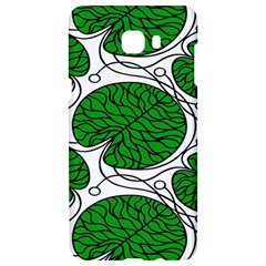 Bottna Fabric Leaf Green Samsung C9 Pro Hardshell Case  by Mariart