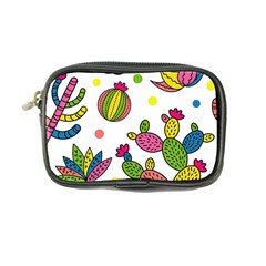 Cactus Seamless Pattern Background Polka Wave Rainbow Coin Purse by Mariart