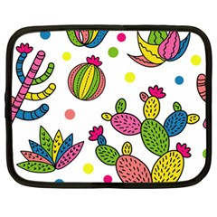Cactus Seamless Pattern Background Polka Wave Rainbow Netbook Case (xl)  by Mariart