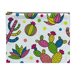 Cactus Seamless Pattern Background Polka Wave Rainbow Cosmetic Bag (xl) by Mariart