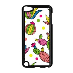 Cactus Seamless Pattern Background Polka Wave Rainbow Apple Ipod Touch 5 Case (black) by Mariart