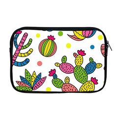 Cactus Seamless Pattern Background Polka Wave Rainbow Apple Macbook Pro 17  Zipper Case by Mariart