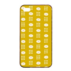 Circle Polka Chevron Orange Pink Spot Dots Apple Iphone 4/4s Seamless Case (black) by Mariart