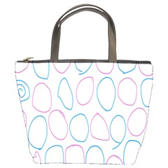 Circles Featured Pink Blue Bucket Bags by Mariart