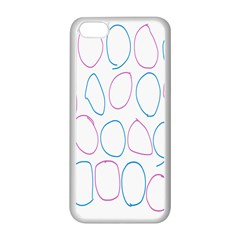 Circles Featured Pink Blue Apple Iphone 5c Seamless Case (white) by Mariart