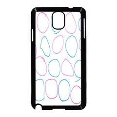 Circles Featured Pink Blue Samsung Galaxy Note 3 Neo Hardshell Case (black) by Mariart
