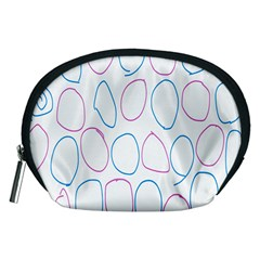 Circles Featured Pink Blue Accessory Pouches (medium)  by Mariart