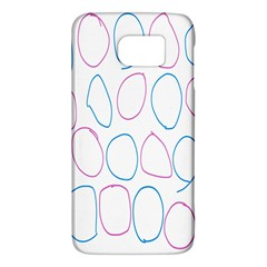 Circles Featured Pink Blue Galaxy S6 by Mariart