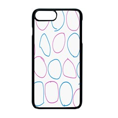 Circles Featured Pink Blue Apple Iphone 7 Plus Seamless Case (black)