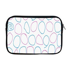 Circles Featured Pink Blue Apple Macbook Pro 17  Zipper Case by Mariart
