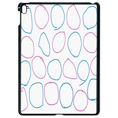 Circles Featured Pink Blue Apple Ipad Pro 9 7   Black Seamless Case