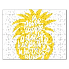 Cute Pineapple Yellow Fruite Rectangular Jigsaw Puzzl by Mariart