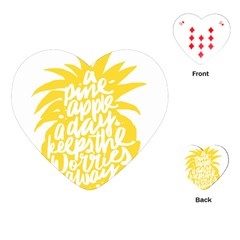 Cute Pineapple Yellow Fruite Playing Cards (heart)  by Mariart