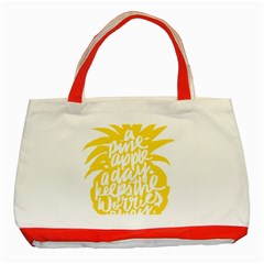 Cute Pineapple Yellow Fruite Classic Tote Bag (red)