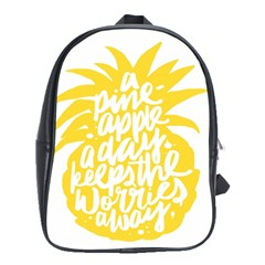 Cute Pineapple Yellow Fruite School Bag (large)